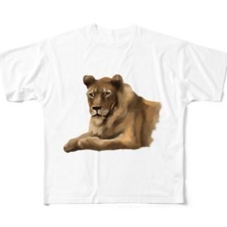 Animals シリーズ 〜ライオン〜 Full graphic T-shirts