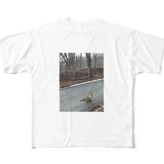 狐。 Full graphic T-shirts