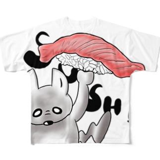 チンチラ 寿司 Full graphic T-shirts