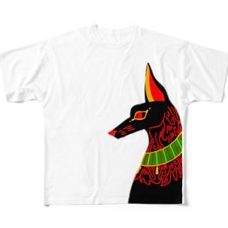 アヌビスさん Full graphic T-shirts