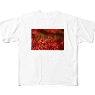 真っ赤な彼岸花 Full graphic T-shirts