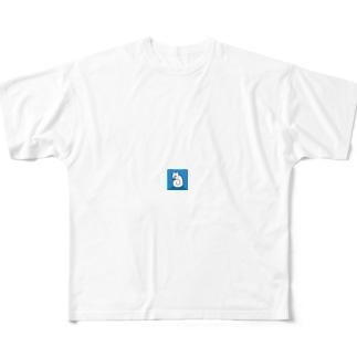 震える犬 Full graphic T-shirts