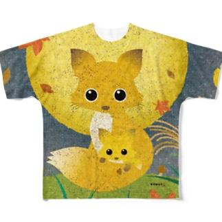 KENSYO vol.50 「狐」 Full graphic T-shirts