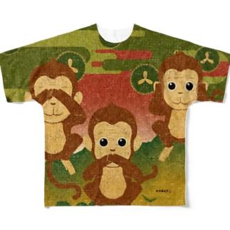 KENSYO vol.51 「三猿」 Full graphic T-shirts