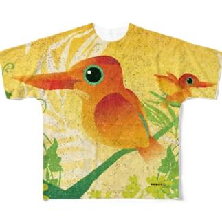 KENSYO vol.52 「アカショウビン」 Full graphic T-shirts