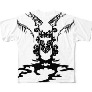 トライバルデザイナー鵺右衛門@仕事募集中の毒 Full graphic T-shirts