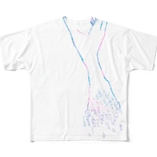 この手で Full graphic T-shirts