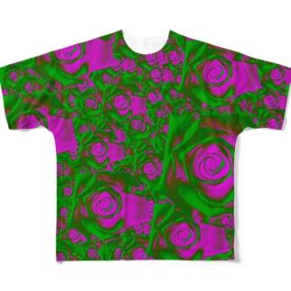 薔薇園2 Full graphic T-shirts