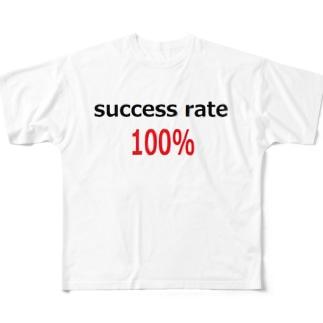 成功率100% success rate 100% Full graphic T-shirts
