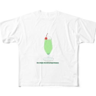 泡のように Full graphic T-shirts
