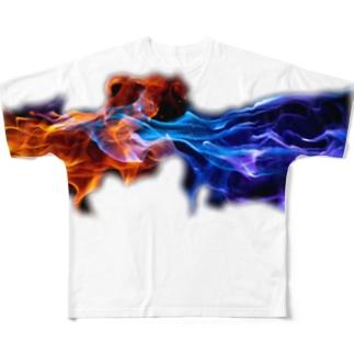 炎 Full graphic T-shirts