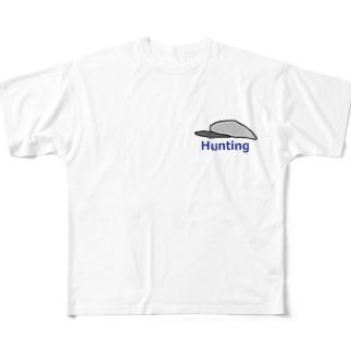ハンチング帽 Hunting  Full graphic T-shirts