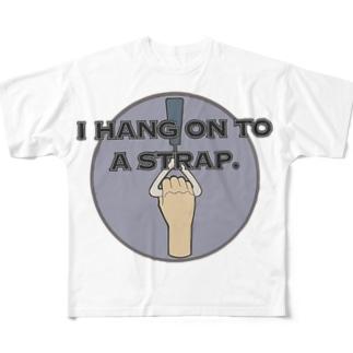 つり革 Full graphic T-shirts