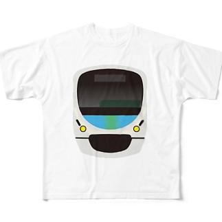 西武鉄道 スマイルトレイン Full graphic T-shirts