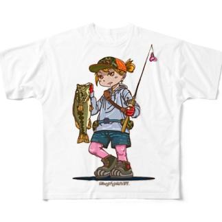 釣りガール Full graphic T-shirts