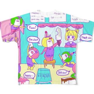 あいすくりーむやさん Full graphic T-shirts