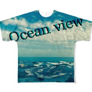 ocean view  オーシャンビュー Full graphic T-shirts