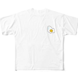 目玉焼き Full graphic T-shirts