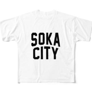 草加市 SOKA CITY Full graphic T-shirts