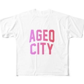 上尾市 AGEO CITY Full graphic T-shirts