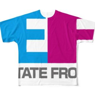 estatefront   架空の不動産屋 Full graphic T-shirts