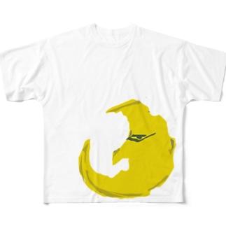 月さま Full graphic T-shirts