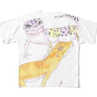 しゃばぞうとタッジオ Full graphic T-shirts