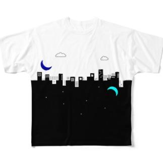 【昼】いっしょうけんめいパワポで作ったロゴの服 Full graphic T-shirts