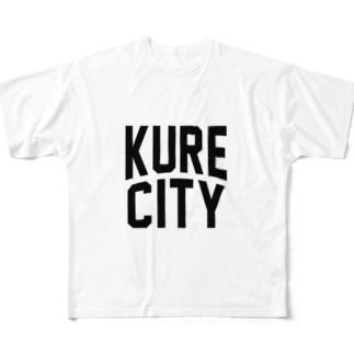 呉市 KURE CITY Full graphic T-shirts