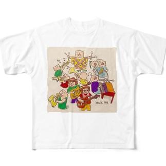 ビーバーちゃんバンド Full Graphic T-Shirt