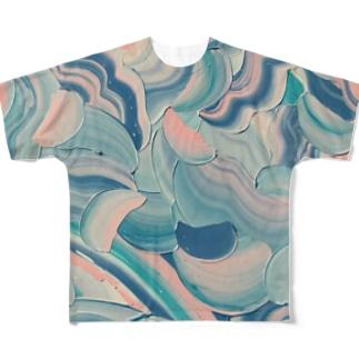 藤裏葉 Full graphic T-shirts