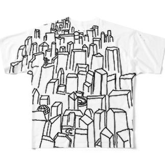 ビルまみれ Full graphic T-shirts