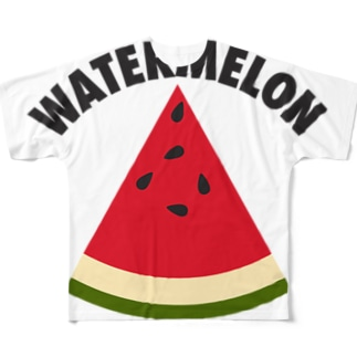 WATERMELON 扇形 Full graphic T-shirts