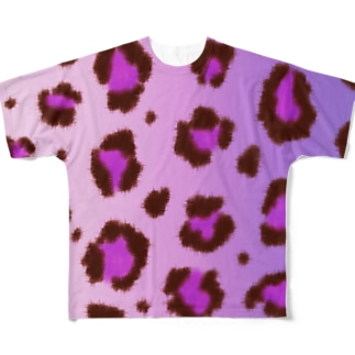 Pink leopard Full graphic T-shirts