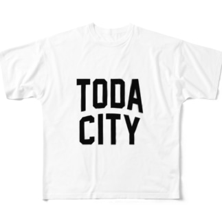戸田市 TODA CITY Full graphic T-shirts