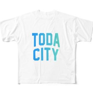 戸田市 TODA CITY Full graphic T-shirts