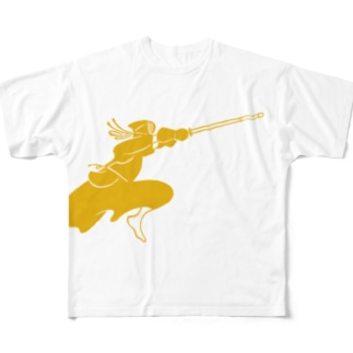 Life with Kendo (men gold) Full graphic T-shirts