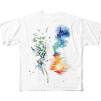 響 Full graphic T-shirts