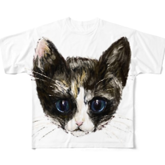 三毛猫の幸子(サチコ) Full graphic T-shirts