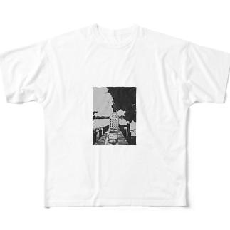 "Salida del sol""世界を股に掛けよ"" Full graphic T-shirts"