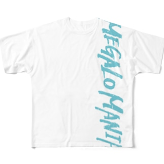 【KJデザイン】MEGALO MANIA-005-WH #MGLMNA Full graphic T-shirts