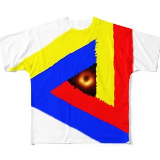 ブラックホールinペンローズの三角形-201025 Full graphic T-shirts