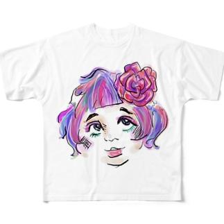 岩手産のスカイツリーゆっこ Full graphic T-shirts