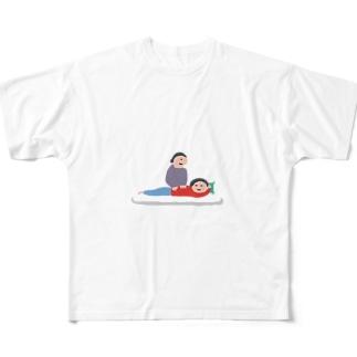 もむ人 Full graphic T-shirts