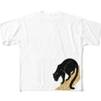 クロヒョウ Full graphic T-shirts