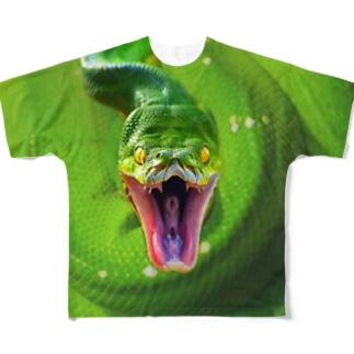 グリーンパイソン フルグラT Full graphic T-shirts