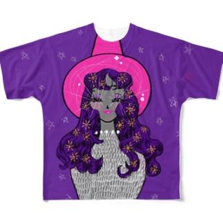 魔女さん Full graphic T-shirts