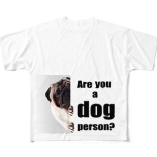 あなたは犬派? Full graphic T-shirts