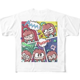 アメコミ風(ノーマルカラー) Full graphic T-shirts