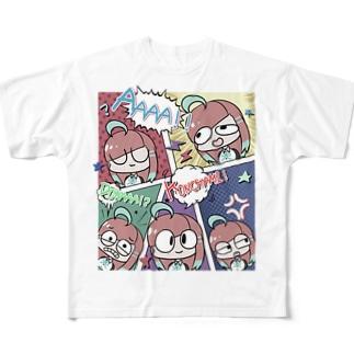 アメコミ風(ちょっとうすいカラー) Full graphic T-shirts